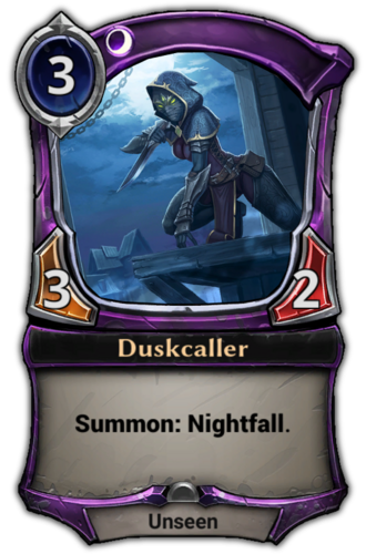 Duskcaller card