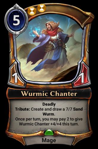 Wurmic Chanter card