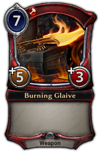 Burning Glaive card