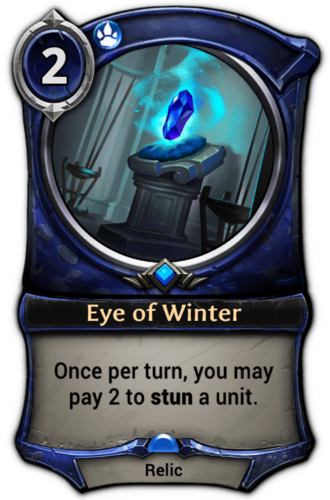 Eye of Winter card