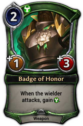 Badge of Honor card