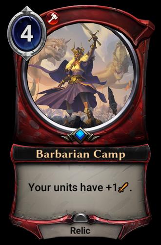 Barbarian Camp card