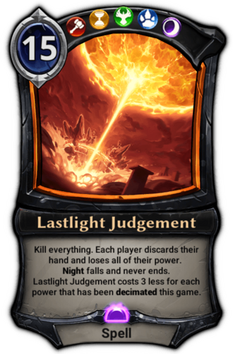 Lastlight Judgement card