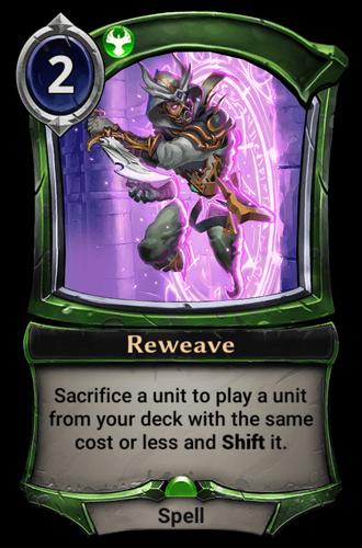 Reweave card