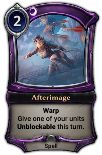Afterimage card