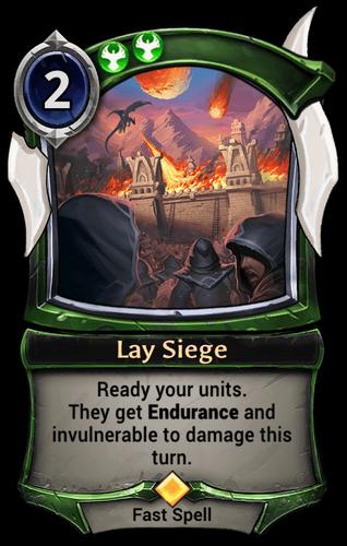 Lay Siege card