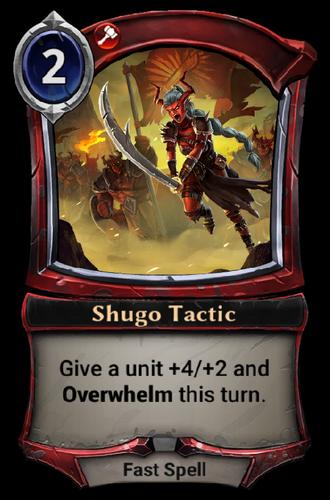 Shugo Tactic card