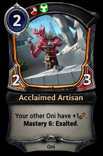 Acclaimed Artisan card