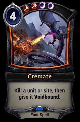 Cremate card