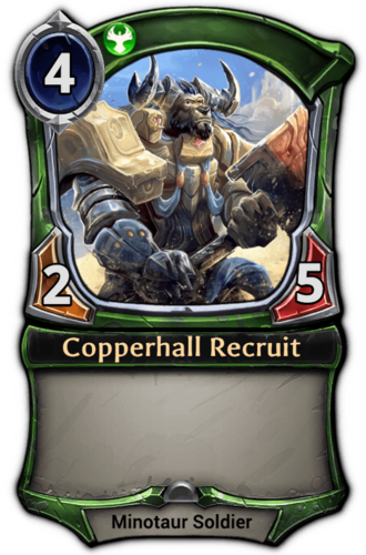 Copperhall Recruit card