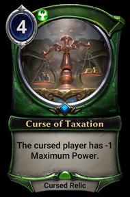 Curse of Taxation