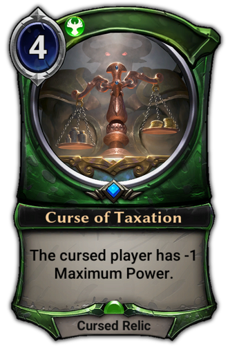 Curse of Taxation card