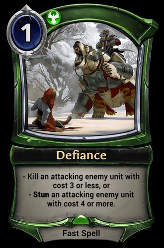 Defiance card
