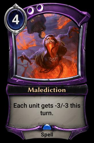 Malediction card