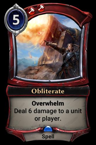 Obliterate card