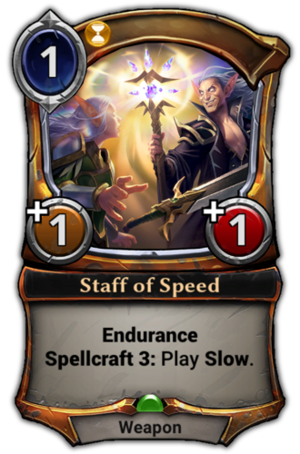 Staff of Speed card