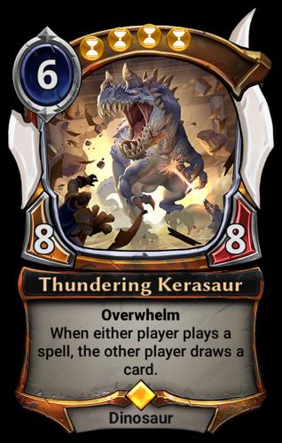 Thundering Kerasaur card