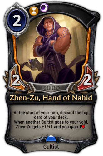 Zhen-Zu, Hand of Nahid card