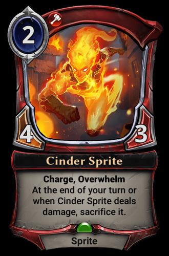 Cinder Sprite card