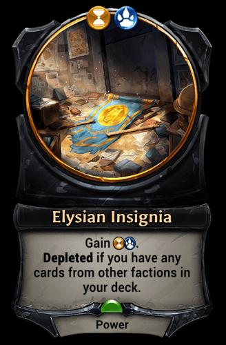 Elysian Insignia card