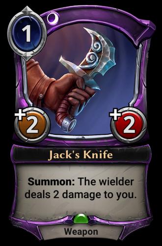 Jack's Knife card