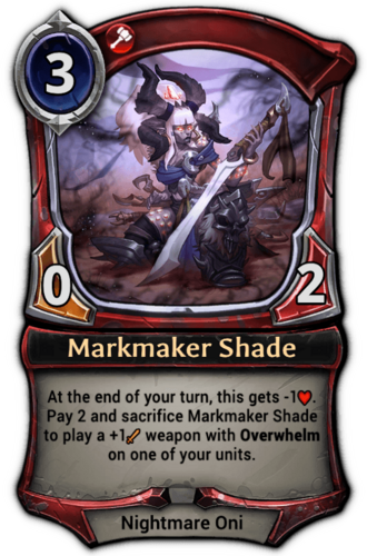 Markmaker Shade card