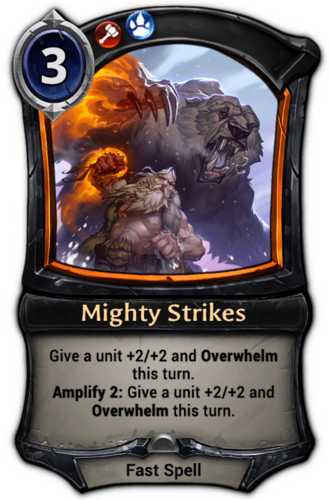 Mighty Strikes card