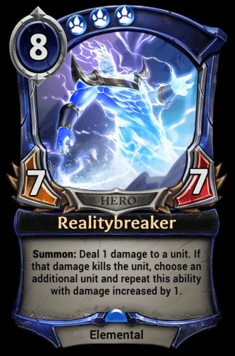 Realitybreaker card