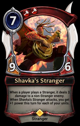 Shavka's Stranger card