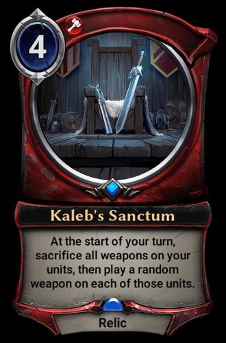 Kaleb's Sanctum card