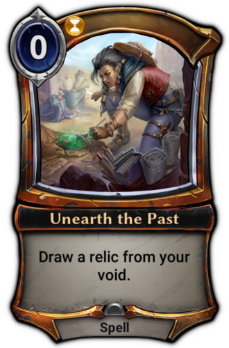 Unearth the Past card
