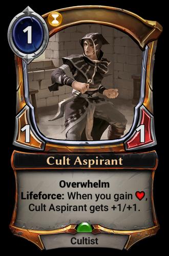 Cult Aspirant card