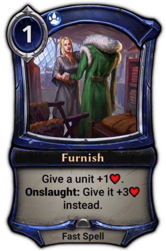 Furnish card