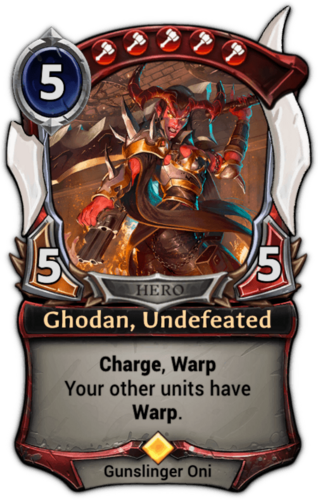 Ghodan, Undefeated card