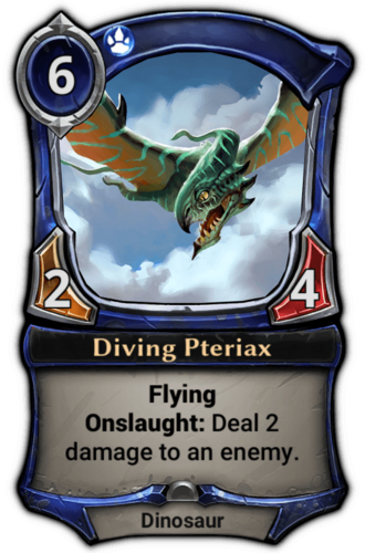 Diving Pteriax card