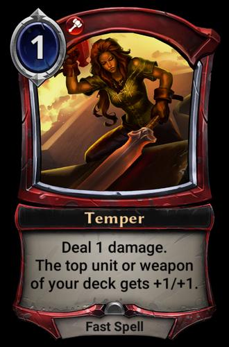 Temper card