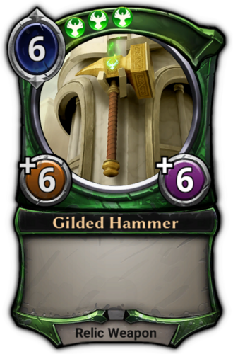 Gilded Hammer card