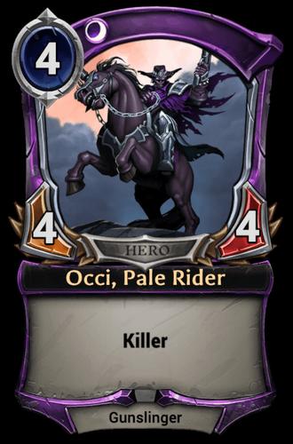 Occi, Pale Rider card