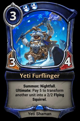 Yeti Furflinger card