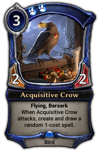 Acquisitive Crow card