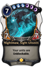 Nightmaw, Sight Unseen