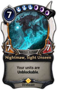Patch 1.35 version of Nightmaw, Sight Unseen.