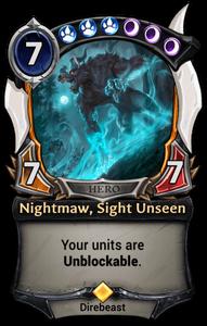 Nightmaw, Sight Unseen