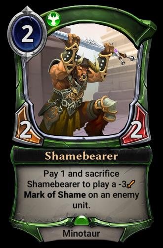 Shamebearer card