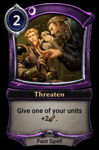 Threaten card