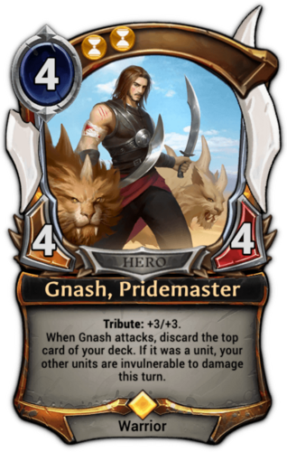 Gnash, Pridemaster card