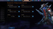 Screenshot - Emote Preferences