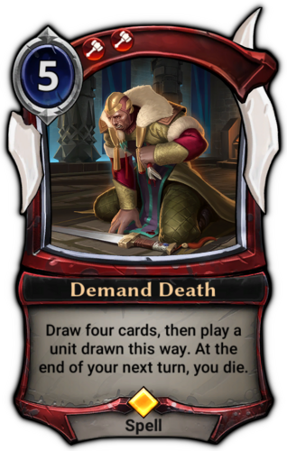 Demand Death card