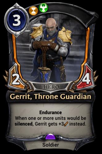 Gerrit, Throne Guardian card