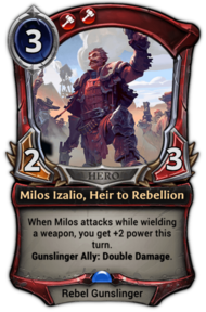 Milos Izalio, Heir to Rebellion